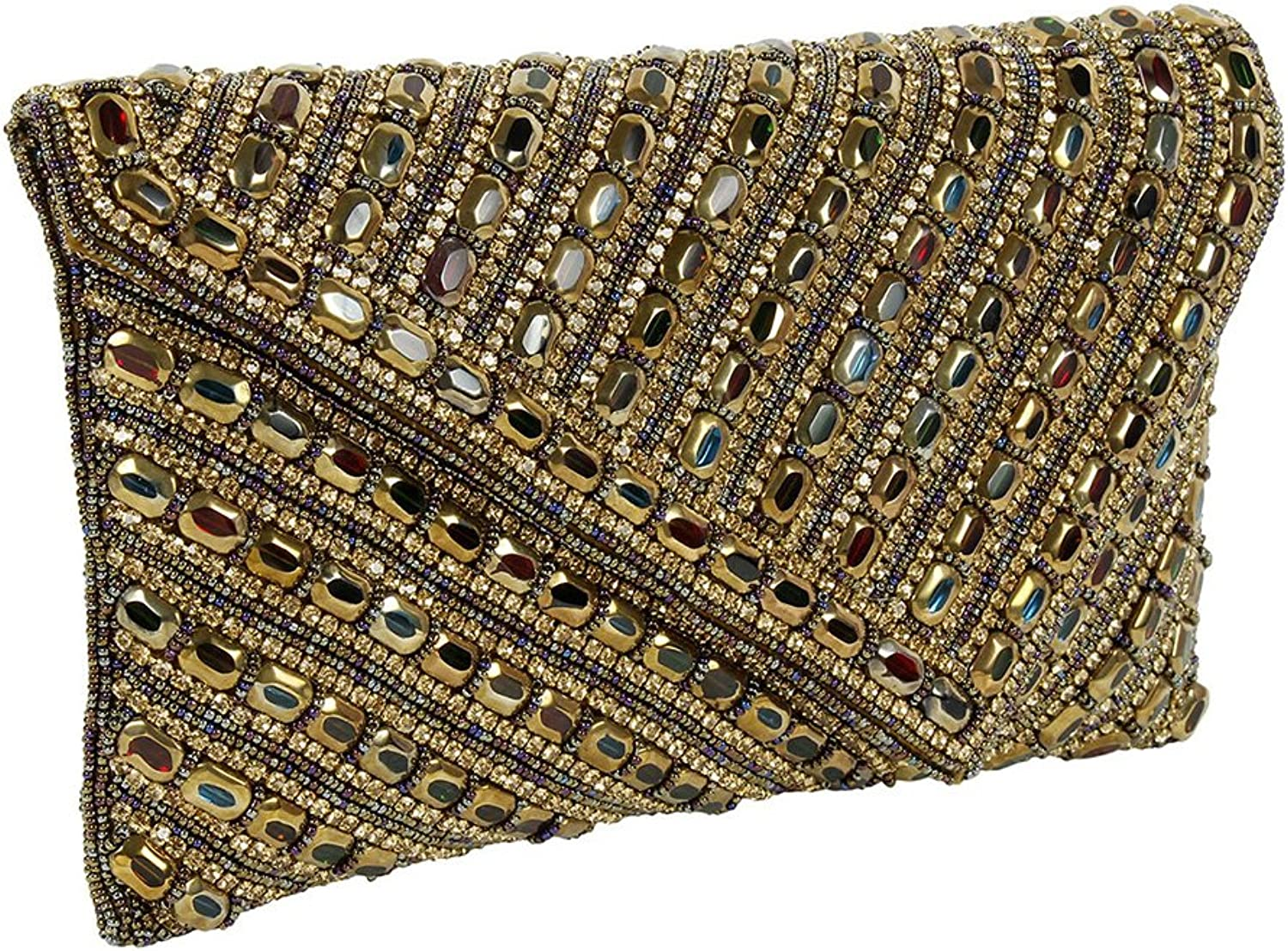 { Extra 10% Discount } Purse Collection Gorgeous Multi Colour Handmade Beaded Clutch Purses For Women's