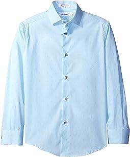 Long Sleeve Diamond Dobby Shirt (Big Kids)