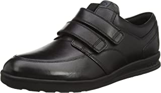 Kickers Boys Troiko Strap Black Leather Loafers