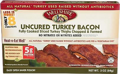 Wellshire Farms, Uncured Turkey Bacon, 3 oz