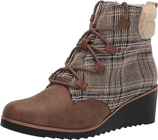 حذاء برقبة حتى الكاحل للنساء من LifeStride ، بني مخطط، 8 عريض