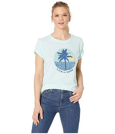 Life is Good Beach Patterns Cool Teetm (Bermuda Blue) Women
