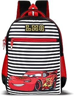 Priority Titan HD Cars Black & Red Casual Backpack Kid's School Bag