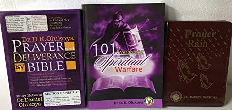 Dr D.K. Olukoya's Spiritual Warfare 3 Books Collection: Prayer and Deliverance Bible (Pocket Size), Prayer Rain, & 101 Weapons of Spiritual Warfare
