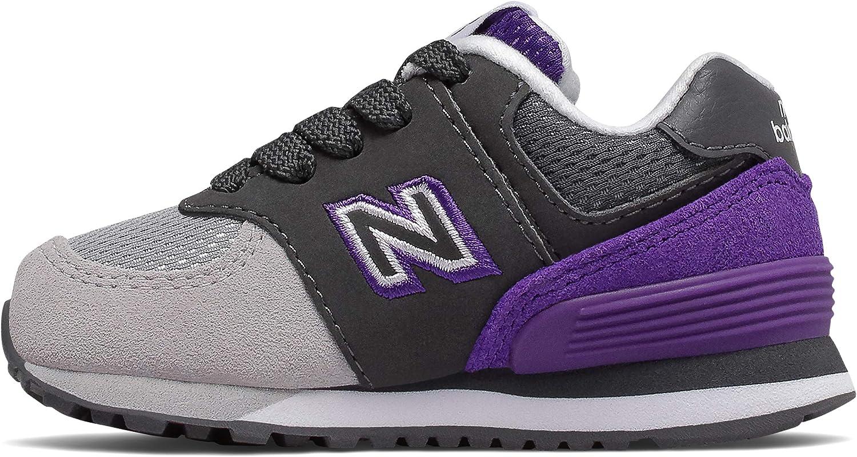 New Balance Kids' 574 V1 Shadow Logo Lace-up Sneaker