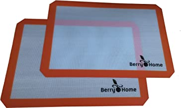 Silicone Baking Mat Parchment Replacement for Baking and Rolling Pizza Dough by Berry Home - 2 Pack