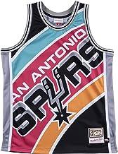 Mitchell & Ness San Antonio Spurs Black Big Face Jersey Swingman NBA HWC Basketball Trikot