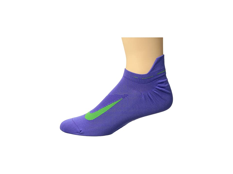 Nike Elite Running Lightweight No Show (Persian Violet/Light Green Spark) No Show Socks Shoes