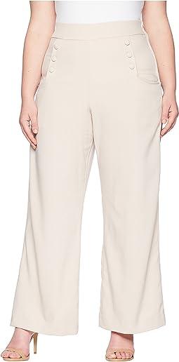Plus Size High-Waist Sailor Ginger Pants