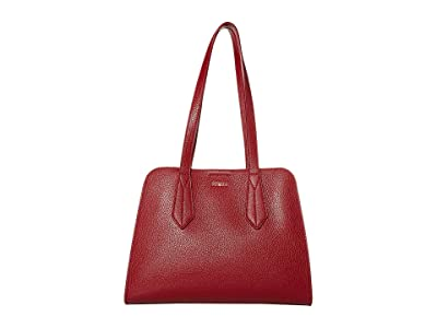 Furla Diletta Large Satchel (Ciliegia) Handbags