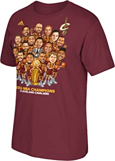 adidas Cleveland Cavaliers Wine 2016 NBA Finals Champions Cartoon Caricature Champs T-Shirt