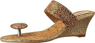 Catwalk Rose Golden Slip-on Sandals for Women's