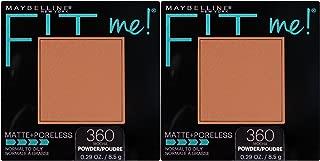 Maybelline New York Fit Me Matte + Poreless Powder Makeup, Mocha, 0.29 oz.