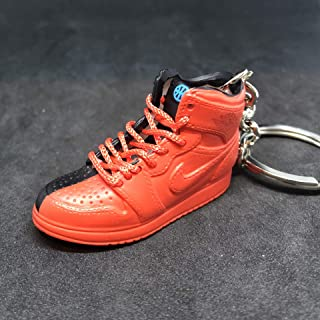Air Jordan I 1 Retro High Quai 54 Q54 Red Friends & Family OG Sneakers Shoes 3D Keychain 1:6 Figure