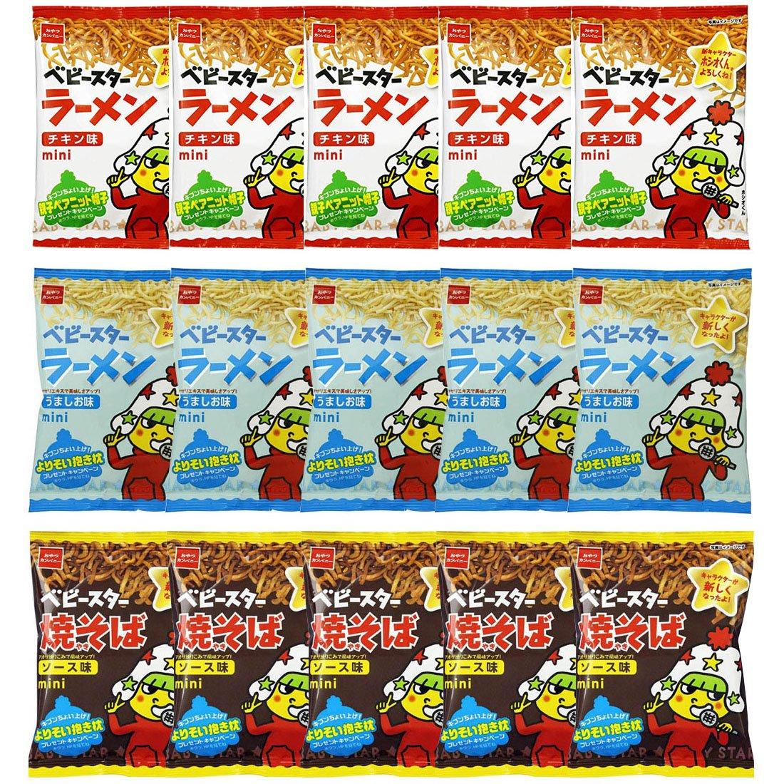 Baby Star Ramen unisex mini unisex Assorted B 15 Popula Packs Various Japanese