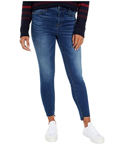 KUT from the Kloth Connie High-Rise Ankle Skinny with Step Raw Hem in Wellbeing (Wellbeing Wash) Women