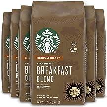 Starbucks Medium Roast Whole Bean Coffee — Breakfast Blend — 100% Arabica — 6 bags..