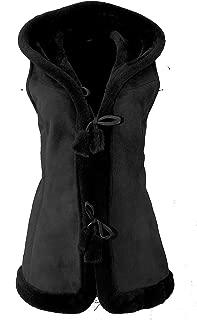 Womens Suede Sheepskin Vest, Lambskin Vest/Leather Gilet/KK-0005
