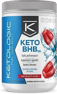 KetoLogic BHB,  Patriot Pop   Ketone Supplement, Suppresses Appetite, Increases Energy, Low Carb, Electrolytes, Beta-Hydroxybutyrate Salts   30 Servings