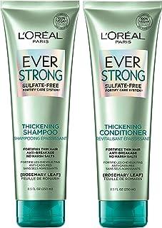 کرم شامپو و تهویه کننده سولفات بدون سولفات ضخیم EverStrong ، موهای ضخیم و تقویت شده برای موهای نازک و شکننده (هر 8.5 لیتر)
