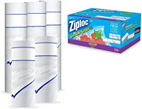 Ziploc ZL1COMBOPK3 Vacuum Seal Roll Combo, 8-Inch x 20-Feet/11-Inch x 16-Feet, Clear