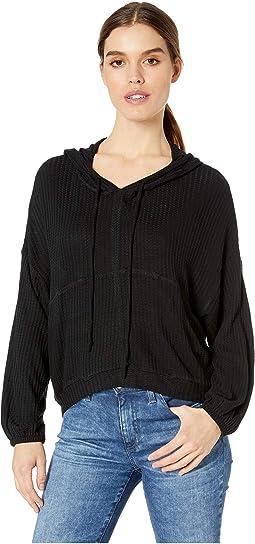 Thermal Blouson Sleeve Pullover Hoodie