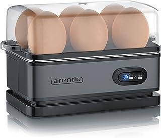 Arendo - Eierkoker roestvrij staal met warmhoudfunctie - kantelschakelaar met indicatielampje - vrij te kiezen hardheidsgr...