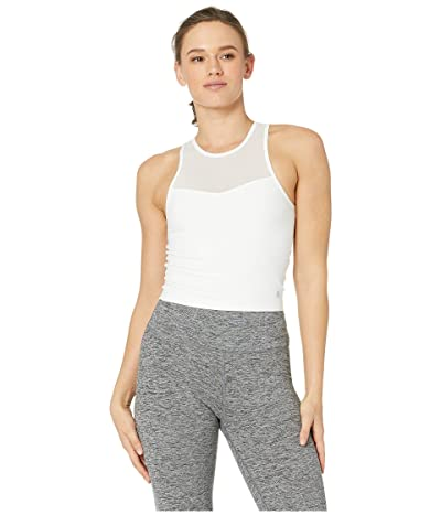 manduka Solite Crop Top (White) Women