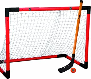 Franklin Sports Hockey Goal Set - NHL - Includes Adjustable Goal, Hockey Stick, and Ball