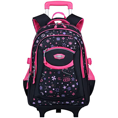 4307372e1035 COOFIT Kids Backpack Trolley Bag Boys Girls School Bag Children s Backpack  Rolling Backpack with Wheels