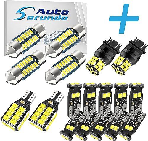 popular Serundo Auto 4pcs 31mm lowest DE3175 Led Bulb+ 10pcs 194 LED Bulbs+2pcs 921 2021 BackupLight+2pcs 3157 LED Bulbs online sale
