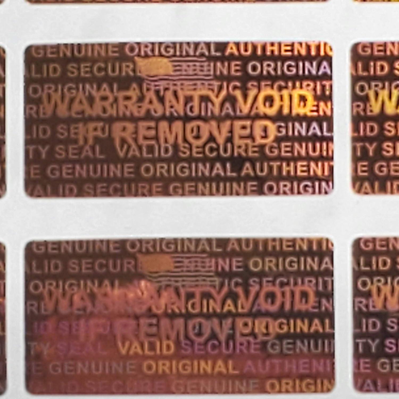 1000 Hologram Labels Stickers 15mm Orange Max 67% OFF Super intense SALE Copper Color x 30mm-
