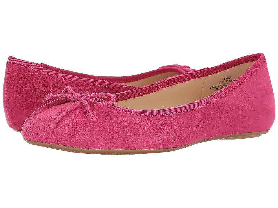 Nine West Batoka Ballerina Flat (Pink Suede) Women
