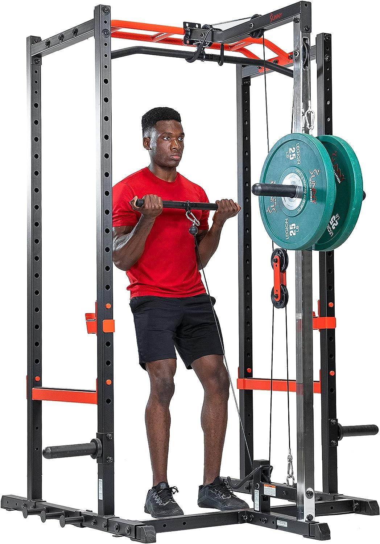 Sunny Health Fitness Power 現品 Cage Strength Rack Zone 爆買いセール