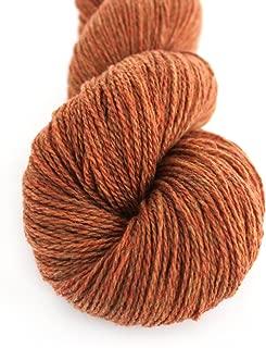 Lotus Hank Pure Mongolian Cashmere Fingering Weight Hand Knitting Yarn Warm and Soft (34-Brick Heather)