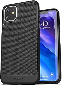 Encased Thin Armor Designed for iPhone 11 Case, Slim-fit Flexible Grip Cover (Black)