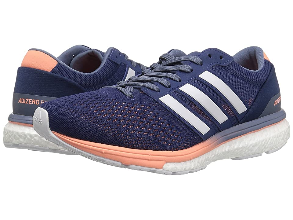Image of adidas Running adiZero Boston 6 (Noble Indigo/Footwear White/Raw Steel) Women's Running Shoes