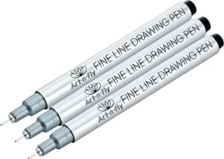 Ultra Fine Tip 003 Black Inking Pens Three Pack with Waterproof Archival Ink Pen Fineliner 3 Sketching Pens for drawing
