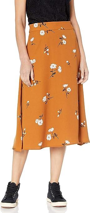 kensie Women's Mid-Century Floral Midi Skirt