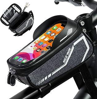 NICEWIN Bike Bag, Bike Phone Holder Bag, Bike Accessories for Adult Bikes, Bike Frame Bags for...