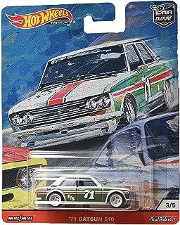 Hot Wheels Car Culture Door Slammers '71 Datsun 510 3/5, White/Green
