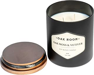 Colonial Candle Oak Room, Oak Moss & Vetiver, Masculine Scented Candle, 15 oz
