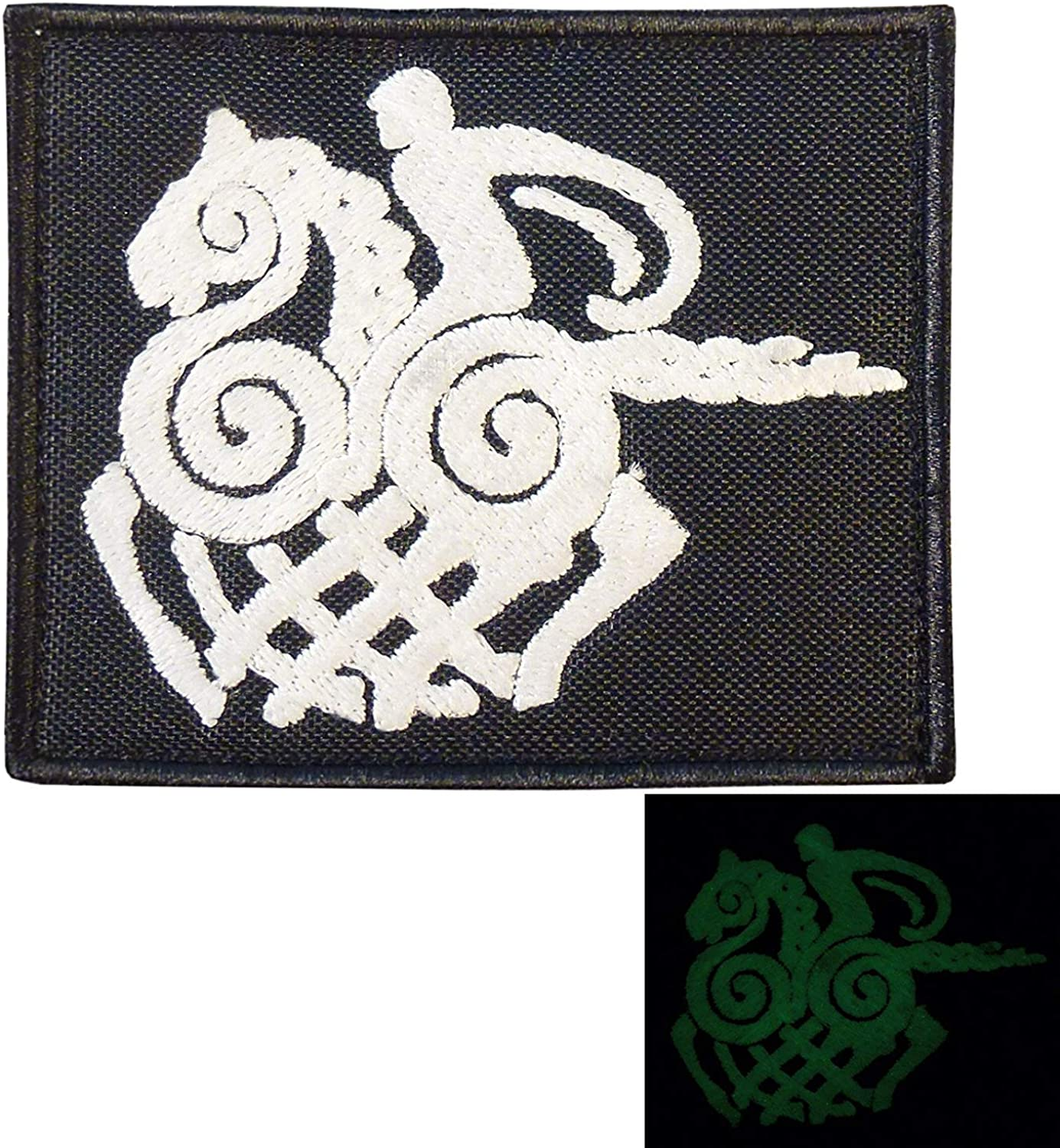 LEGEEON Sleipnir Horse Odin God Norse Asgard Viking Valhalla Morale Tactical Embroidery Sew Iron on Patch