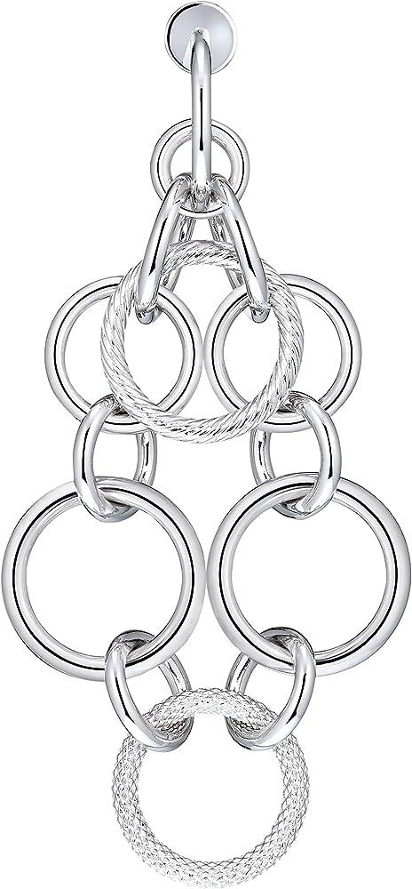 Orecchini morellato collezione essenza,in acciaio rodiato argento SAGX08