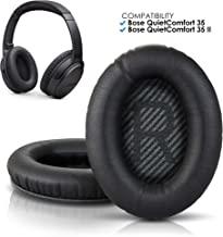 Wicked Cushions Premium Bose QC35 Headphones Replacement Ear Pads - Memory Foam Pads Adapt to Your Ears - Also fits QuietComfort 25 QC25 / QC35ii / AE2 / AE2i / AE2w (Over-Ear ONLY) - Black