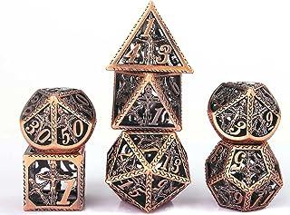 Schleuder Dadi D&D Set Dungeons & Dragons, Dadi Gioco di Ruolo Poliedrici Dadi Metallo Cavo, Pathfinder Gioco di Ruolo da ...