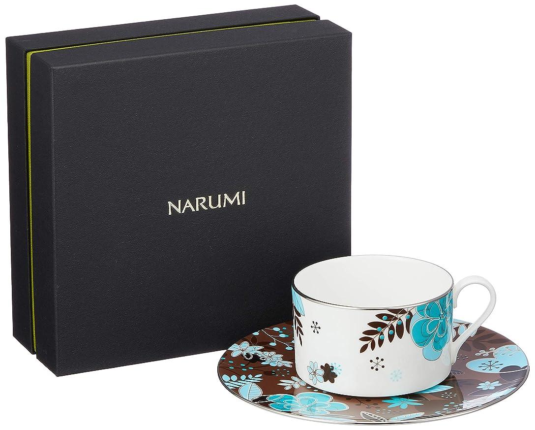 歩行者狂信者パリティNARUMI(ナルミ) カップ ソーサー フローラルパラダイス ブラウン 240cc ティーコーヒー兼用 51068-21805P