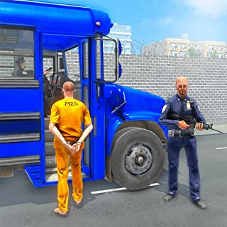 Crime Town Jail Prisoners Transport Van: Police Bus Driving Pro Parking Adventure Robber Car Chase Rush Simulator Best Free Game 2019