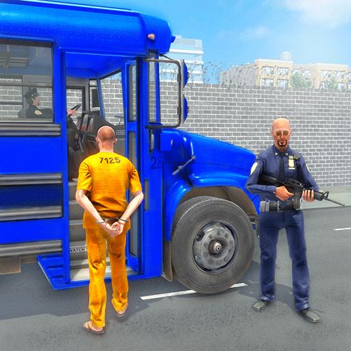 Crime Town Jail Prisoners Transport Van: Police Bus Driving Pro Parking Parking Adventure Robber Car Chase Rush Simulator Mejor juego gratis 2019
