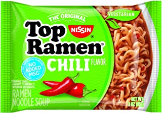 Nissin Top Ramen, Chili, 3 Ounce (Pack of 24)